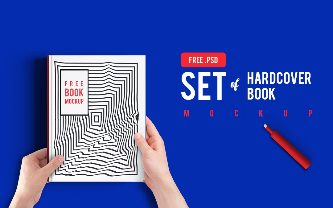 Hardcover Book Free Mockup Set from CyanTriangle