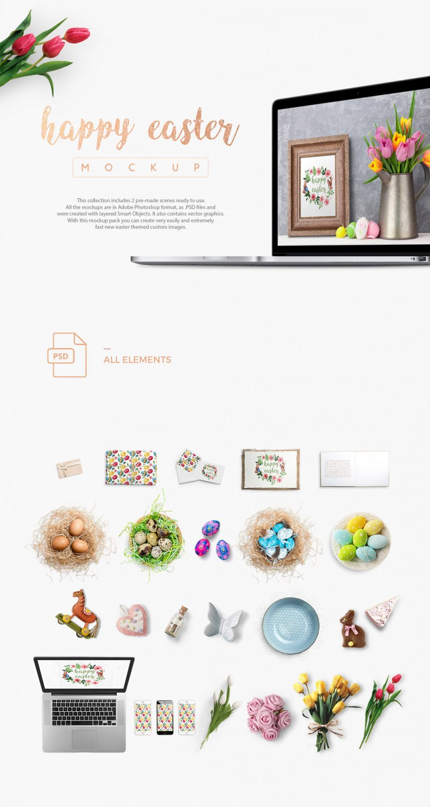 Happy Easter Free Mockup Set