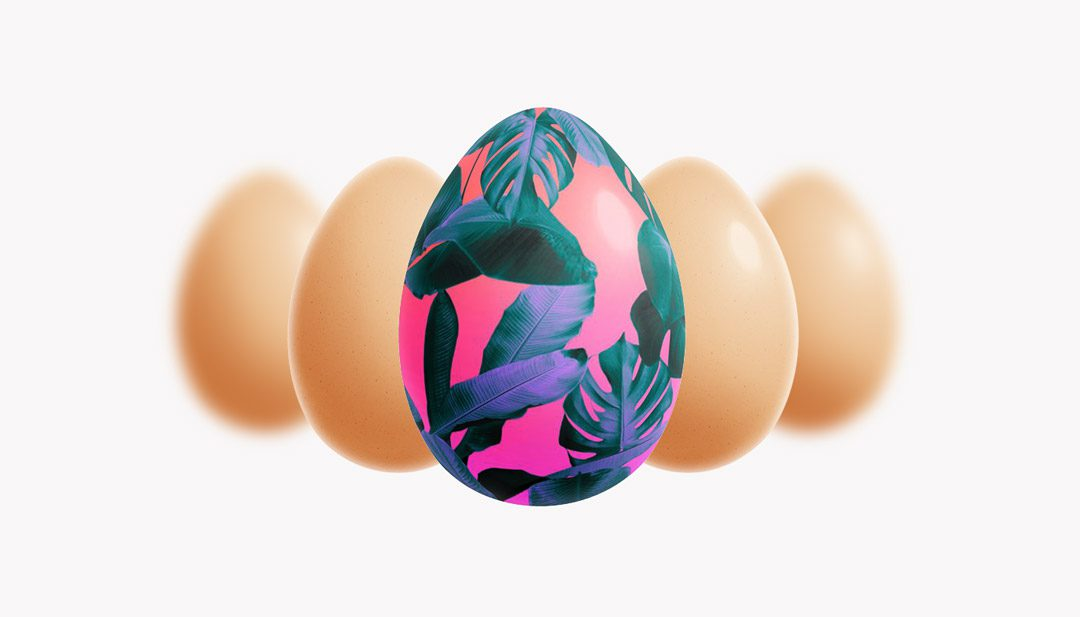 HAPPY EASTER FREE MOCKUP SET LAYERED PSD WITH 2 SCENES FROM CYAN TRIANGLE