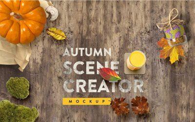 Autumn pack 1 free mockup scene creator (fall printables free autumn)
