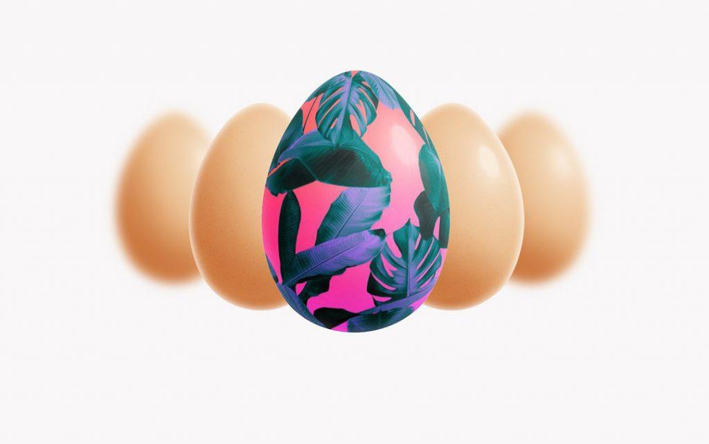 Free Easter Egg Mokup PSD